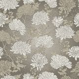 Floral Pattern. Background With Chrysanthemum. Stock Image