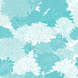 Floral Pattern. Background With Chrysanthemum. Royalty Free Stock Image