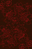 Floral pattern background with decorative ornament Royalty Free Stock Photography