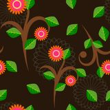 Floral pattern background illustrations. Concept background concept Stock Images