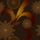 Floral pattern background illustrations. Concept background concept in gold colors Royalty Free Stock Image