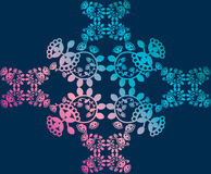 Floral pattern, background, lace Royalty Free Stock Images