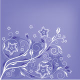 Floral pattern background in lilac and white stock illustration