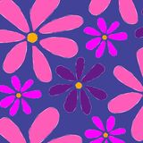 Floral Pattern Background Pink Stock Photo