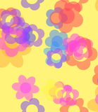 Floral pattern background wallpaper Stock Photos