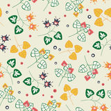 Floral pattern on beige background Stock Image