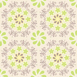 Floral pattern on beige background Royalty Free Stock Image