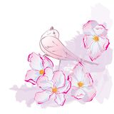 Floral pattern with bird Royalty Free Stock Photo