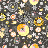 Floral pattern with birds Royalty Free Stock Photos
