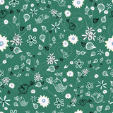 Floral pattern with birds Royalty Free Stock Images