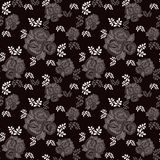 Floral pattern on black background Royalty Free Stock Image