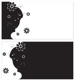 Floral pattern on black and white backgrounds Stock Photo