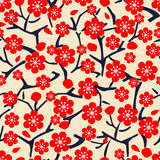 Floral pattern with blossom cherry Royalty Free Stock Photos