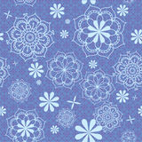 Floral pattern in blue Stock Images