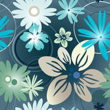 Floral pattern in blue Royalty Free Stock Photos