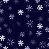 Floral pattern on a blue background Royalty Free Stock Images