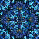 Floral pattern with blue flowers Royalty Free Stock Images