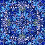 Floral pattern with blue flowers Royalty Free Stock Image
