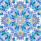 Floral pattern with blue flowers Stock Photography