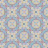 Floral Pattern Blue Yellow Weave Elements Royalty Free Stock Photography