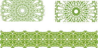 Floral pattern border Royalty Free Stock Image