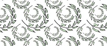 Floral pattern. Branch with leaves. Ornament vector illustration