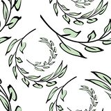 Floral pattern. Branch with leaves. Ornament royalty free illustration