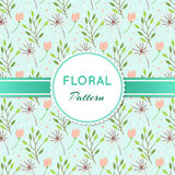 Floral pattern. With branches and flowers Vector Illustration