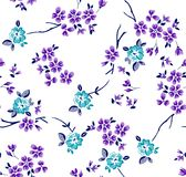 Floral pattern with branches stock image