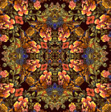 Floral pattern with brown flowers Royalty Free Stock Images