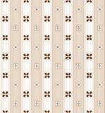 Floral pattern in brown tones. Seamless background in brown tones made of four types of flowers and elegant stripes Royalty Free Stock Image