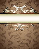 Floral Pattern Business Background Stock Image