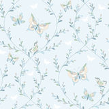 Floral pattern butterflies Royalty Free Stock Image