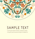 Floral pattern card Stock Photos