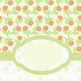 Floral pattern card Royalty Free Stock Image