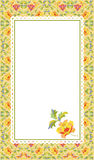 Floral pattern card. Vector illustration of flower pattern card Royalty Free Stock Photo