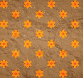 Floral pattern on the cardboard Stock Image