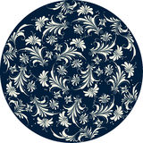 Floral pattern circle Stock Image