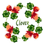 Floral Pattern Clover Flowers Royalty Free Stock Photo