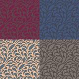 Floral pattern 4 color seamless. Illustration of floral pattern 4 color seamless Stock Photography