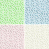 Floral pattern colored set Royalty Free Stock Photography