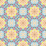 Floral Pattern Colorful Flower Elements Stock Image