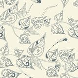 Floral pattern with curly leaves Royalty Free Stock Photos