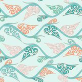 Floral pattern with curly leaves Royalty Free Stock Images