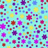 Floral pattern. On the cyan background Stock Photography