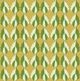 Floral pattern with dark ang light green leaves on green background Royalty Free Stock Photography