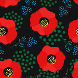 Floral pattern on dark background. Royalty Free Stock Images