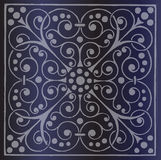 Floral Pattern on a Dark Blue Background Stock Photos