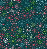 Floral pattern. Decorative abstract background. Doodle texture. Field. Endless floral pattern. Template for design and decoration textile, wrapping paper Stock Photography