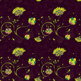 Floral pattern with decorative flowers Royalty Free Stock Photo